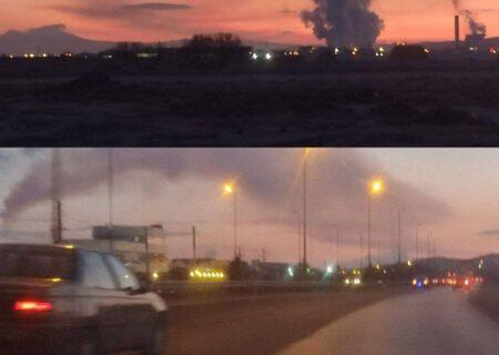 آلودگی نیروگاه تبریز